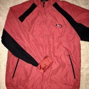 Monterey Club Vintage style half-zip jacket